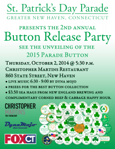 2nd Annual Button Release Party @ Christopher Martins | New Haven | Connecticut | United States